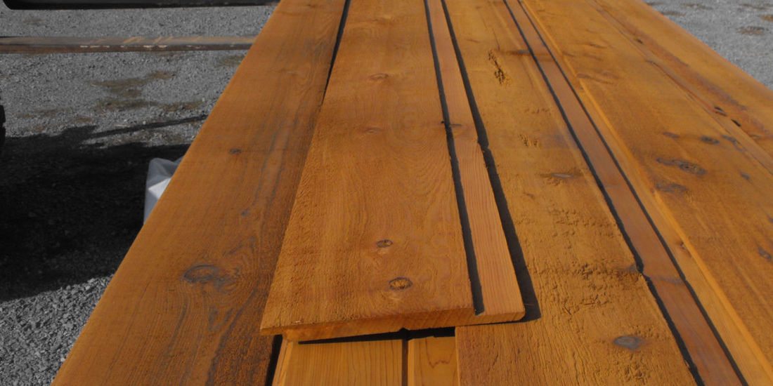 CHANNEL RUSTIC LAP 1X8 WESTERN RED CEDAR SIDING MILLED ROUGH FACE CUSTOMER SELECT GRADE