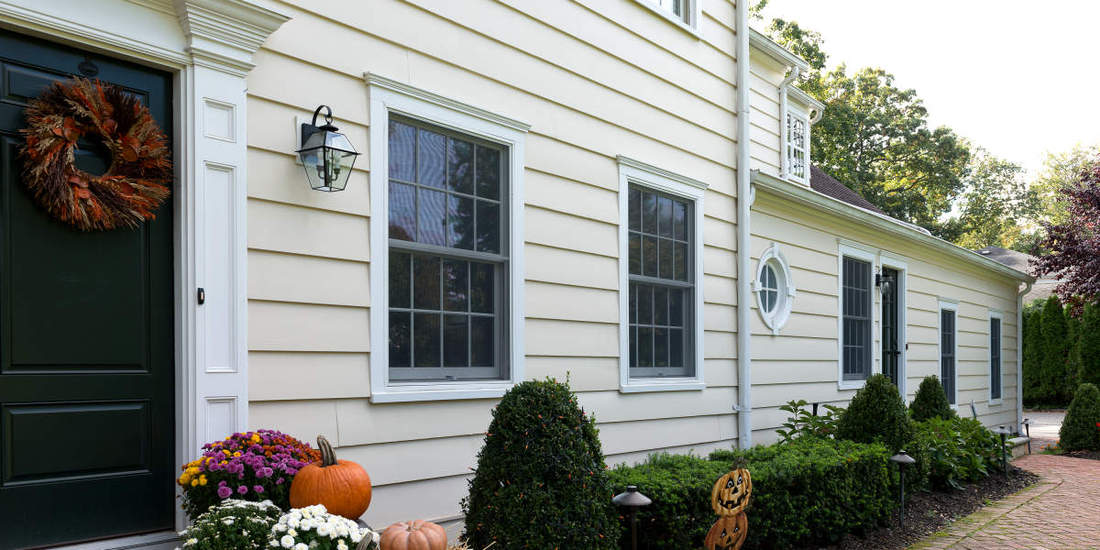 1x12 THICK BEVEL PATTERN CLEAR CEDAR SIDING PRIMED, PAINTED HOME IN NEW YORK