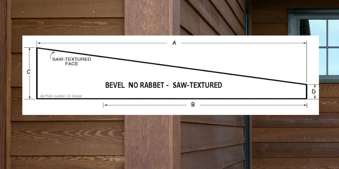 BEVEL SIDING PATTERN NO RABBET PROFILE DIAGRAM