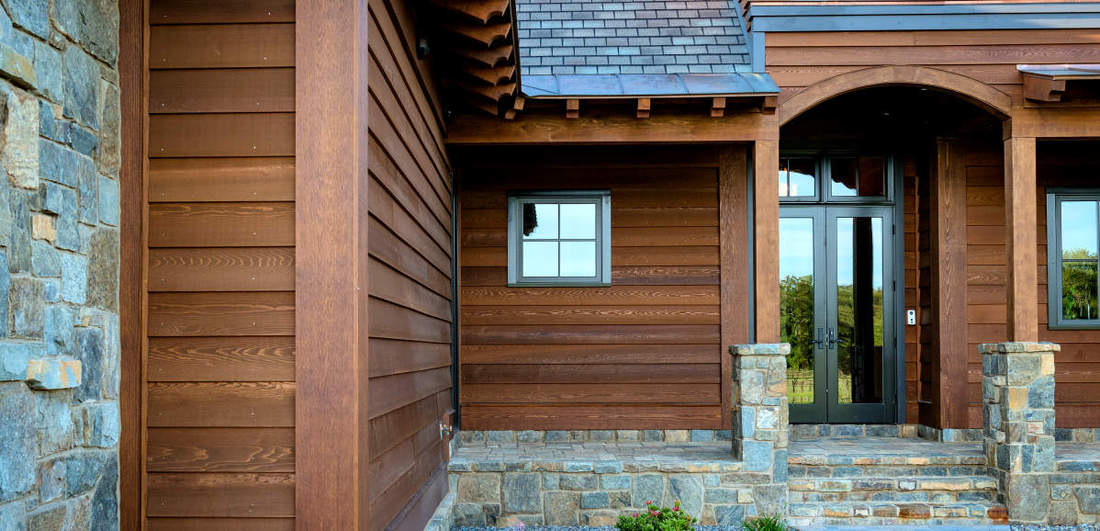 1X10 BEVEL SIDING NO RABBET PROFILE CLEAR CEDAR PRE-FINISHED TWP DARK OAK HOME IN NEW YORK