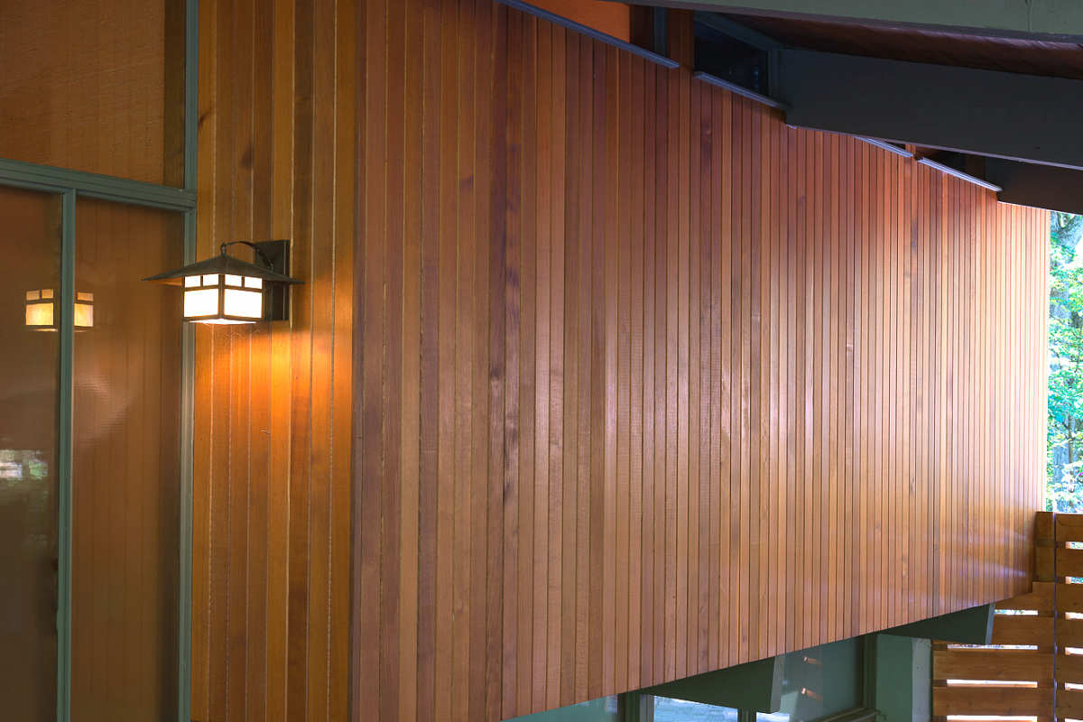 TONGUE & GROOVE CEDAR SIDING CLEAR GRADE 1X4 PRE-FINISHED CUSTOM 50/50 MIX CABOTS PACIFIC REDWOOD + HEARTWOOD