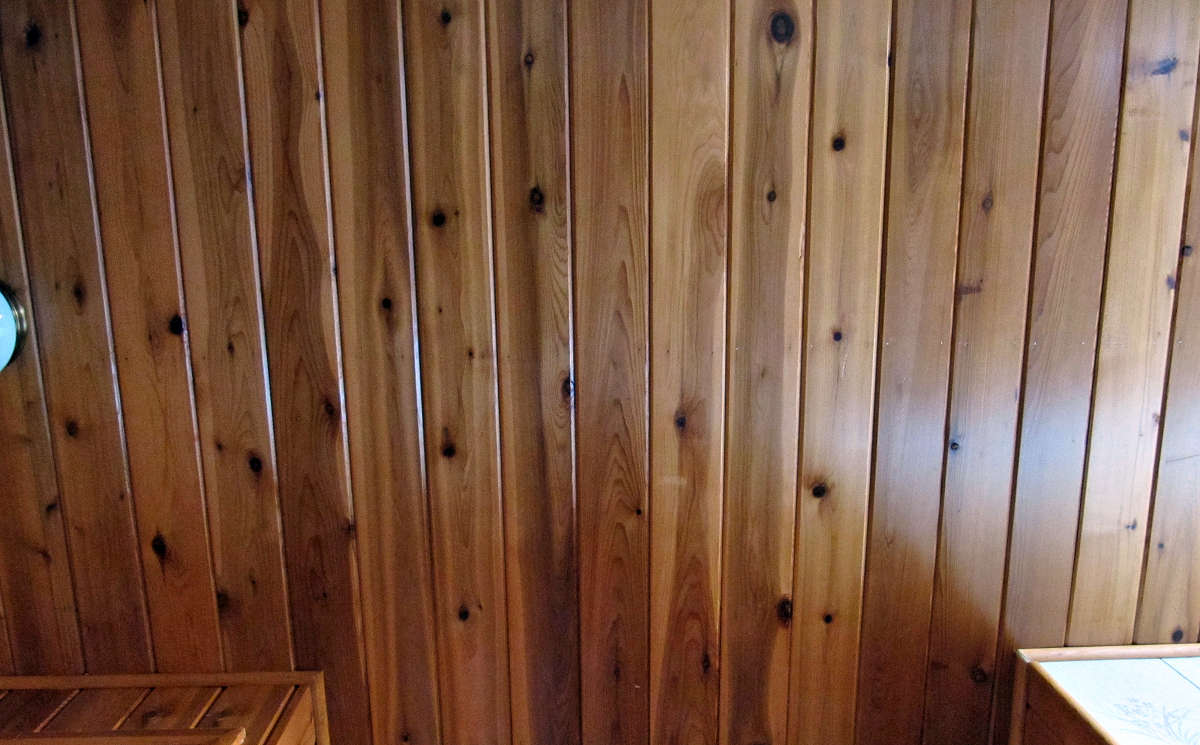 1x6 TONGUE & GROOVE CEDAR PANELING ON CEILING