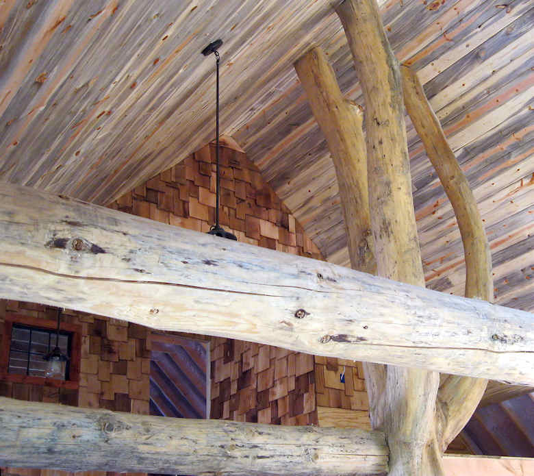 interior shingles with blue pine