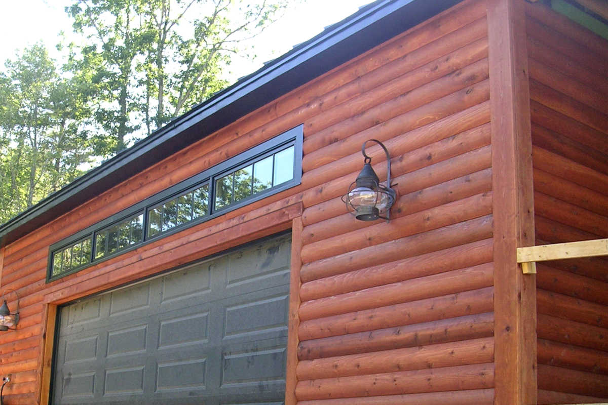 2x8 Cedar Log Cabin Siding Finished TWP 1516 Rustic New Hampshire