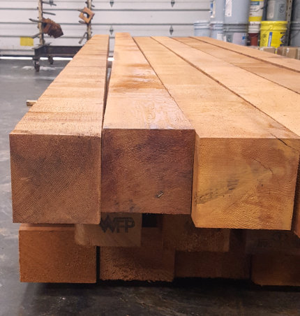 western red cedar 6x6 Cedar Lumber Mill Select Grade