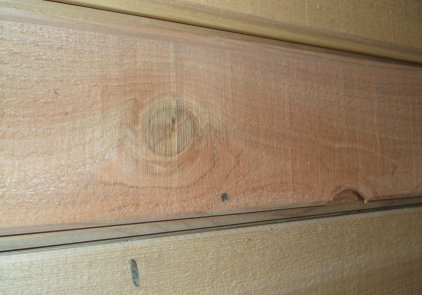 Discount Cedar Siding - Edge Knot