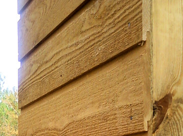 Channel Rustic Siding wall profile close-up