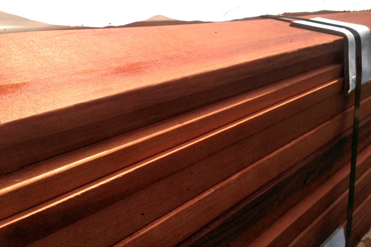 CLEAR CEDAR DECKING 2X6 CVG FACTORY STAINED READY TO SHIP