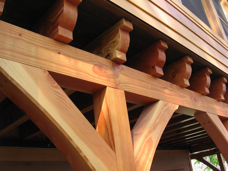 Douglas Fir lumber Beams used as inspiration