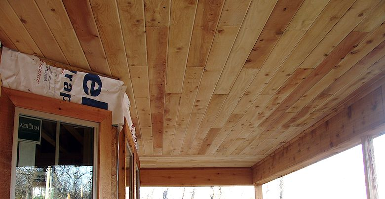 Mill Select Incense Cedar Porch Ceiling Soffit in Texas