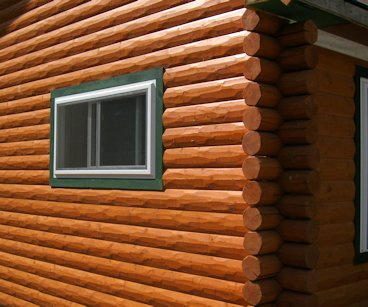 HEWN Log Siding Factory Finish
