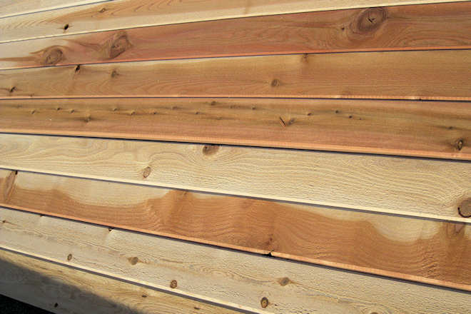 incense cedar siding boards