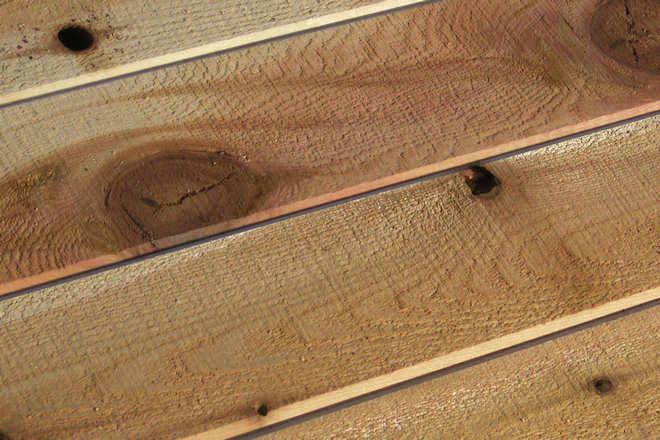 incense cedar siding knot flaw