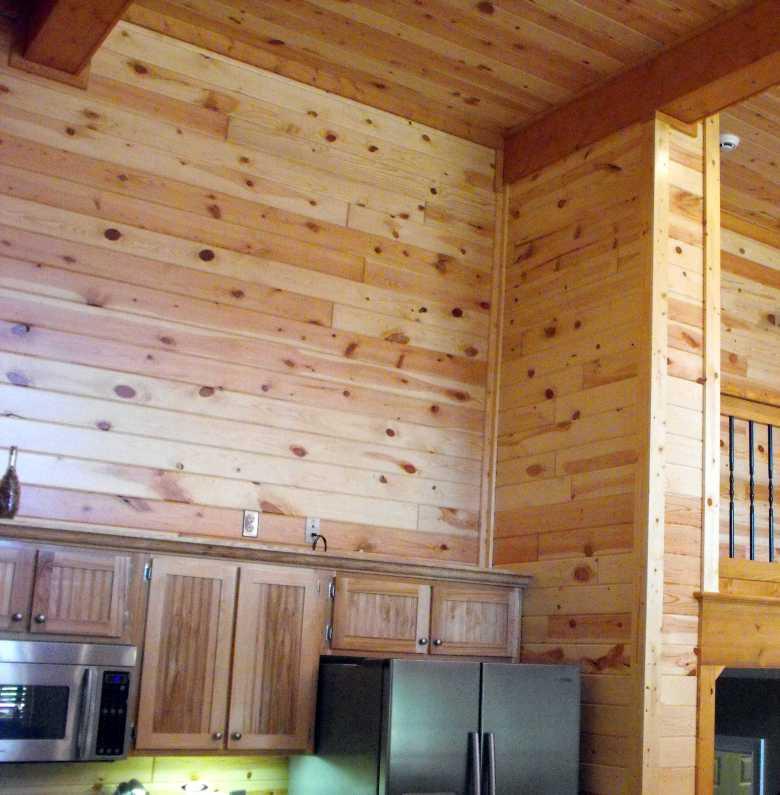 interior pine wood paneling clear
