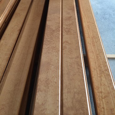 Pine Paneling HAND Stained Almond - custom color