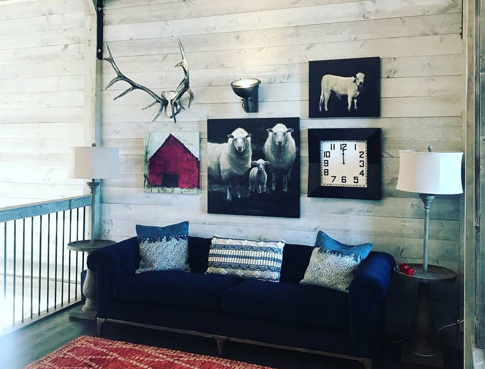 Pine Paneling Stained Greystone Buffalo Smoke Collection