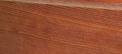 redwood vertical grain sample