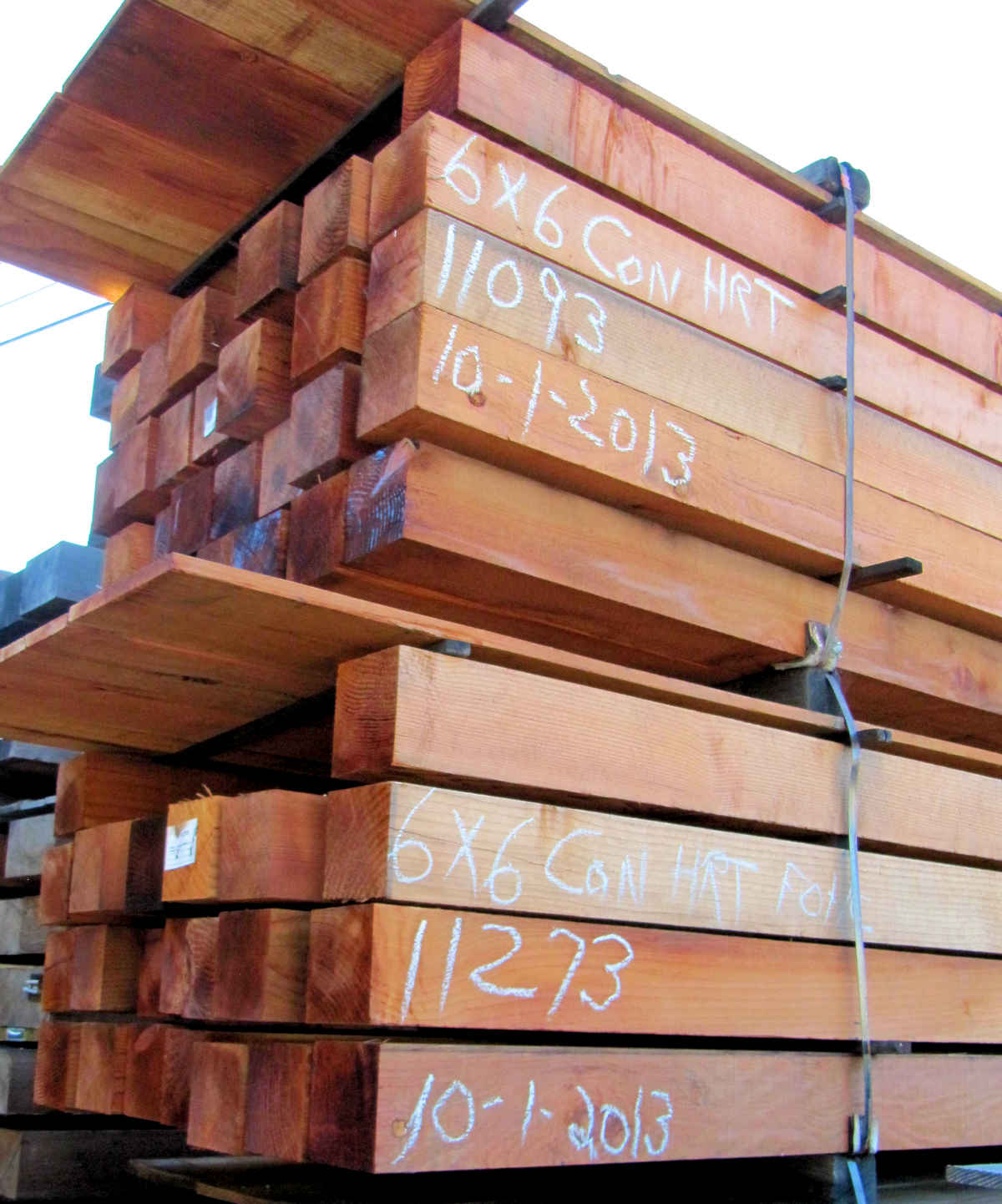 REDWOOD LUMBER 6x6 CON HEART Grade