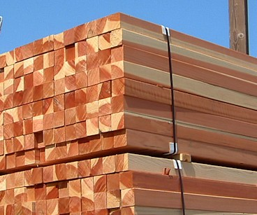 Redwood Lumber 4x4 sapwood