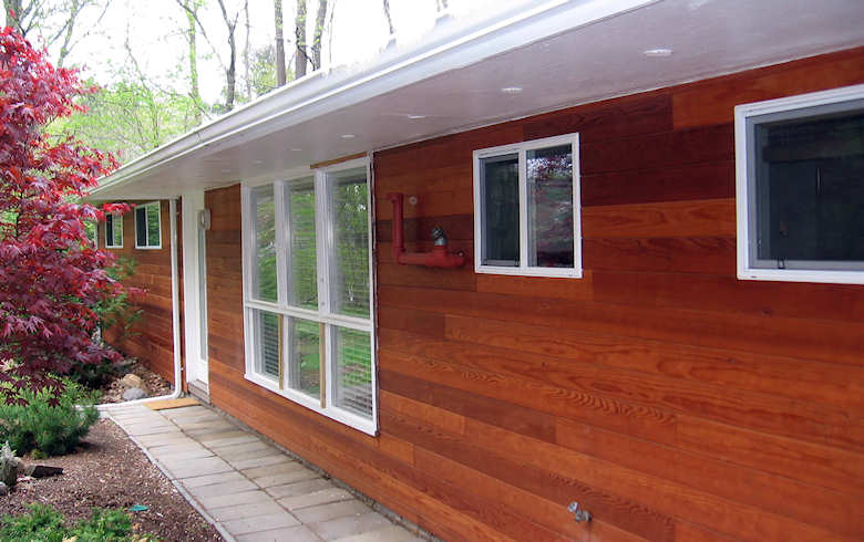 Clear All Heart Redwood Siding - Home Connecticut