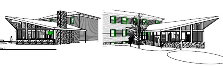 Torok Design Drawing based on Wright inspired home