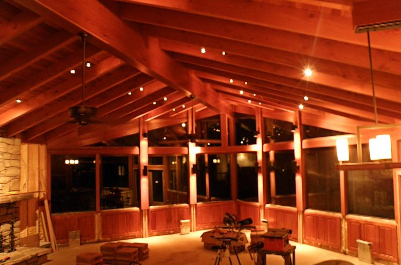 interior framing and beams