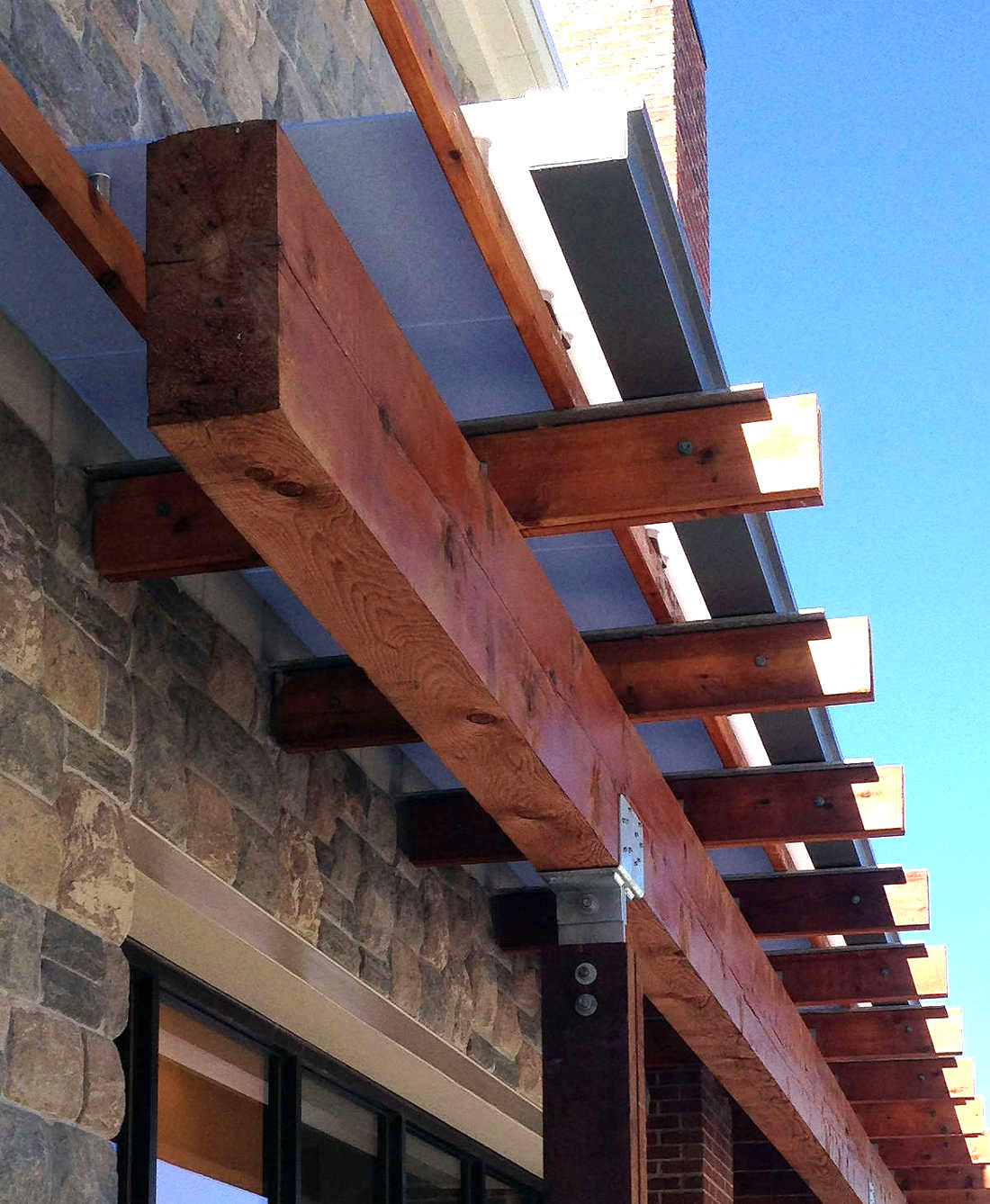 WHOLE FOOD MARKET IN VIRGINIA 4X10 RED CEDAR TIMBER ACCENT