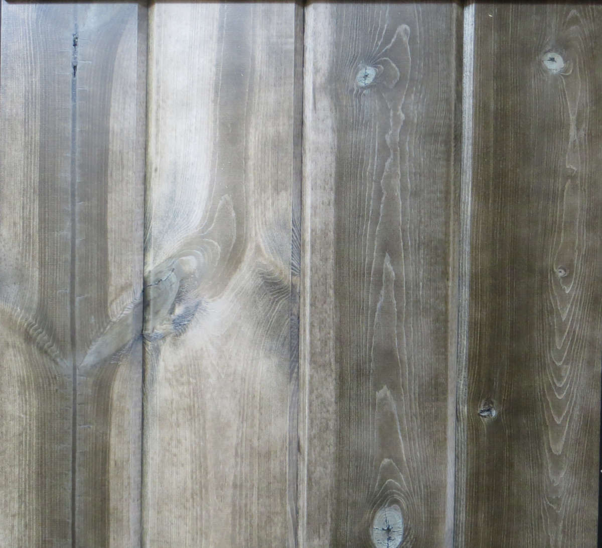 Wicked Wood Pine Paneling - WEATHERED BROWN - Stain plus 2 Clear Coats  (BL13-40)